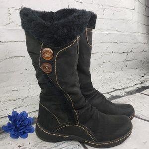 Bass boots Black  Faux Fur & Suede Size 9M